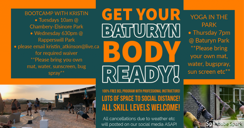 Join us for free outdoor fitness programs!
